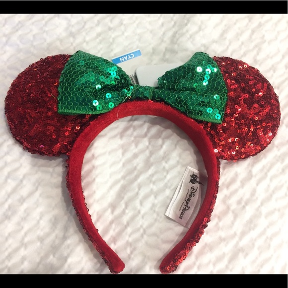 disney parks minnie mouse christmas ears